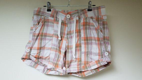 UNIONBAY橘格短褲M