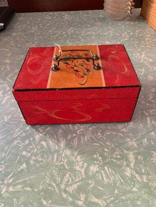 Wooden Box. Hand painted