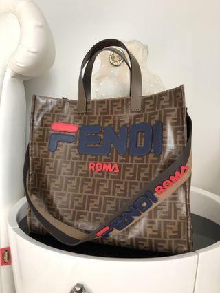 Fendi x Fila Mania Shopping Tote Bag With Strap You