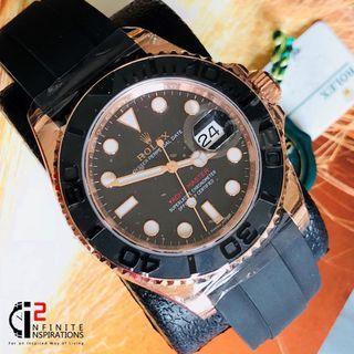 Rolex Yacht Master rose gold 116655 Black Dial -  Unworn Complete Set