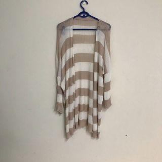 針織條紋罩衫