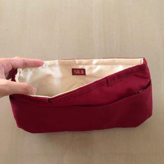 SKII Red cosmetic pouch bag purse
