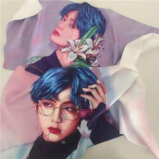 BTS Taehyung banner slogan towel fansite V