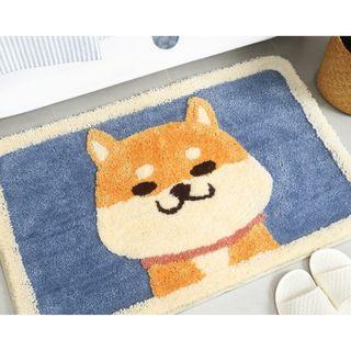 超萌柴犬立體高低毛吸水止滑墊~柴犬地毯~柴犬地墊