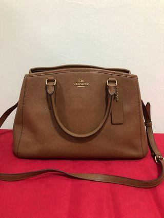 Coach Margot Carryall Saddle Brown