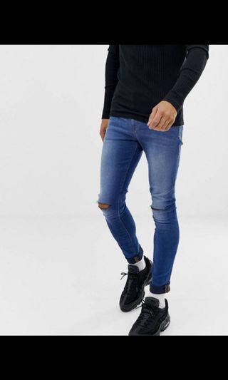 Blue Ripped distressed jeans