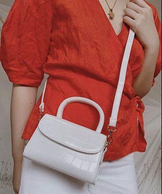 Crocodile Skin Inspired Sling Bag