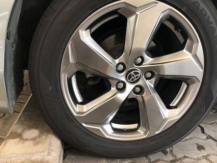 Toyota original rims, Yokohama tyres for swop