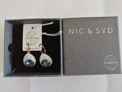 Nic & Syd Crystal Raindrop earrings