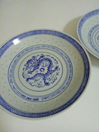 Rice Grain Plates (2 pcs set)