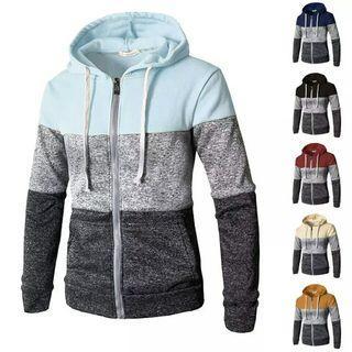Men Zip Up Sweater Coat Jacket Outwear Sweater Men Hoody