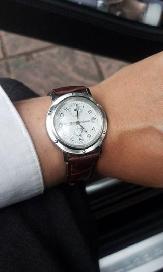 同款機械錶最便宜,HERMES 愛馬仕 Clipper系列,背透款