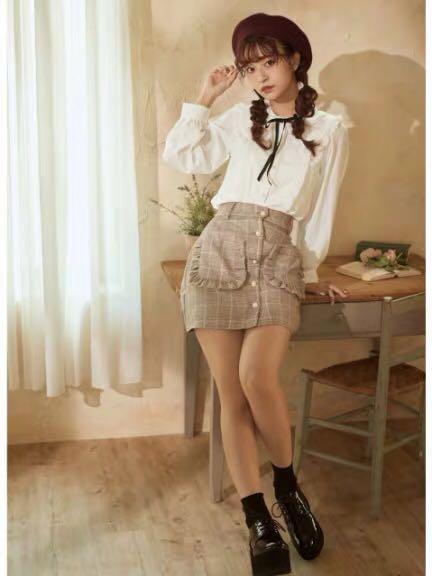 2way: 🎀 蝴蝶結可拆 日系反領恤衫 Japan ribbon detail ruffle trimmed shirt pink top black top white top
