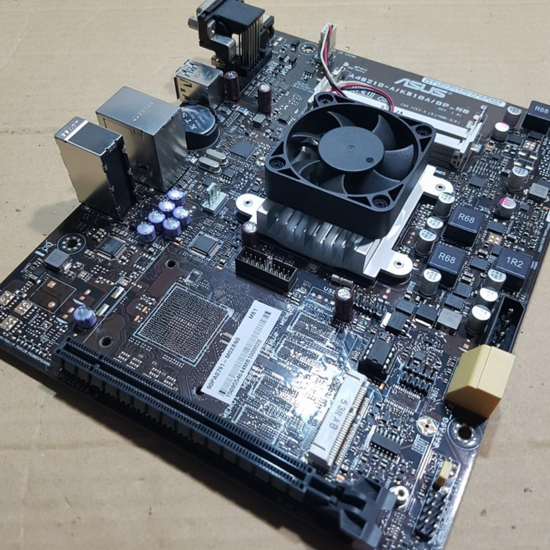 華碩A46210-A/K31DA/DP_MB迷你主機板、內建AMD A4-6210四核處理器、附檔板【自取價$1550】