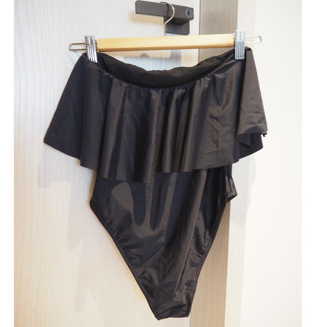 Asos 全新黑色連身泳衣