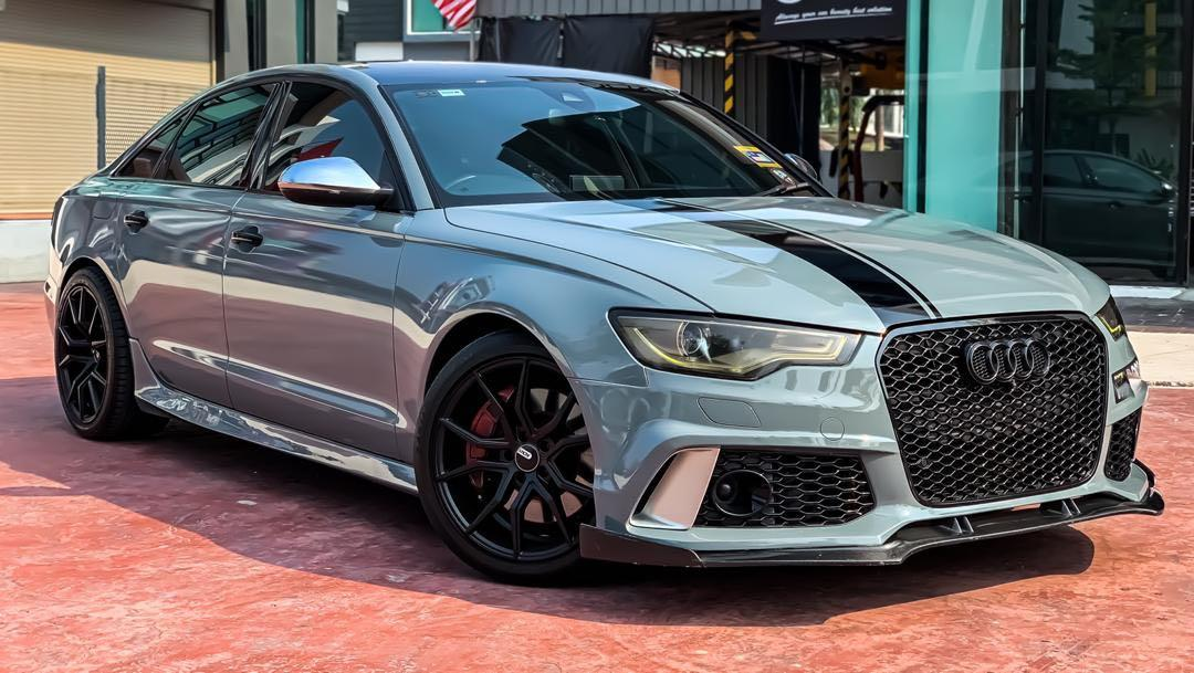 AUDI A6 400HP 3.0 STAGE 3 QUATTRO S-LINE(A) FULLY CONVERTED TO RS6 SEWABELI BERDEPOSIT