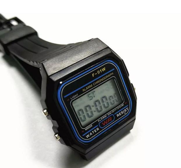 Brand New F91W Black Casual Watch Vintage Retro Digital F91-W