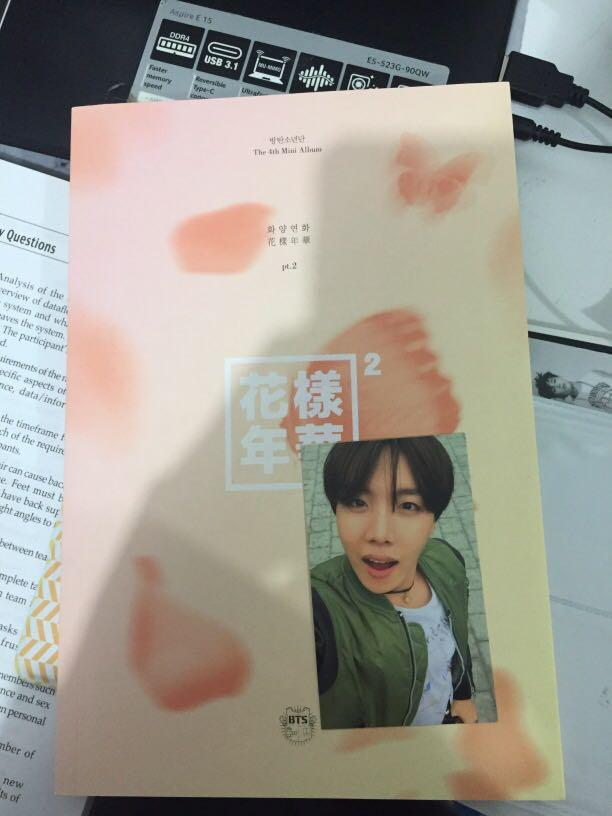 BTS in the Mood for Love Part 2 Album 4th Mini Album With J-Hope Photocard Pink Version
