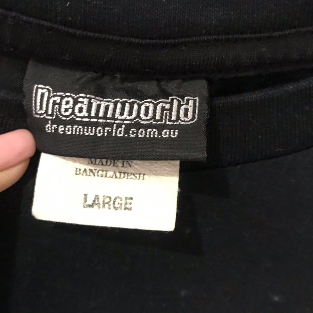 Dreamworld souvenir 'Big 6 Thrill Rides' t-shirt - LARGE