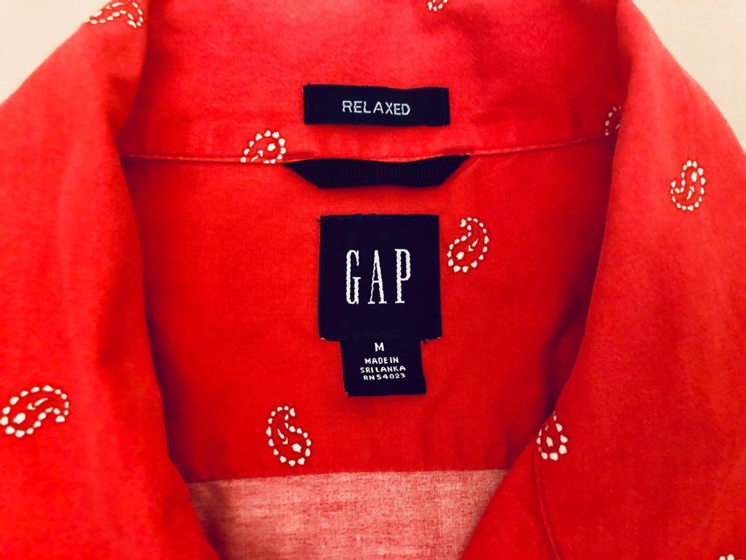 Gap 美式工裝 古著 變形蟲襯衫