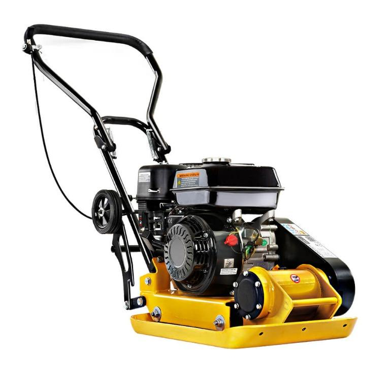 Giantz 21″ Plate Compactor 6.5HP Compactors 61KG Vibration Rammer with Wheels