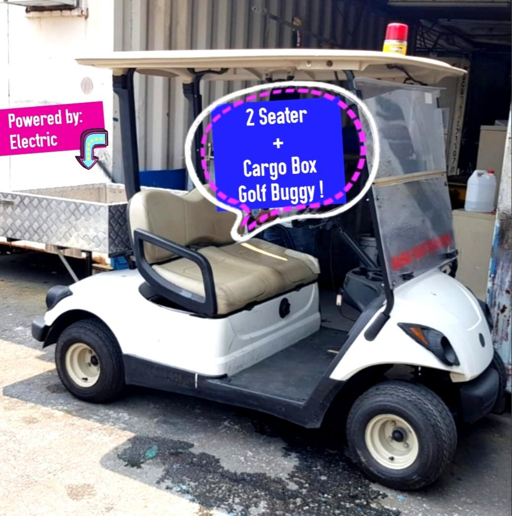 (GOOD Condition!)💥 2 Seater + Cargo Box Electric Buggy