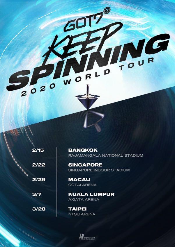GOT7 Spinning Top in KUALA LUMPUR [Ticketing Service]