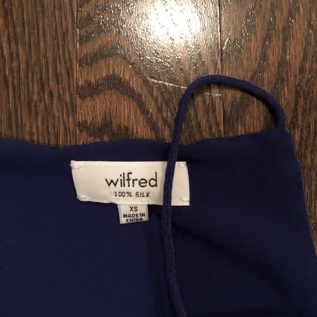 INK BLUE Aritzia Wilfred Rian Cropped Tank size XS