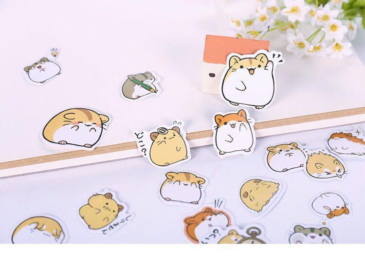 [PO] hamster sticker packet