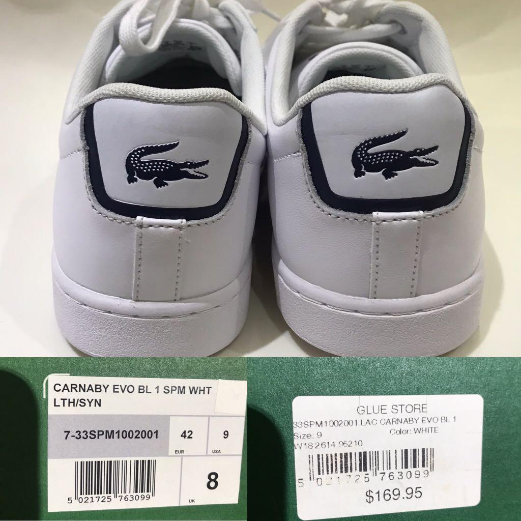 Lacoste Carnaby Evo BL 1 MENS sneakers - UK8/US9/EUR42