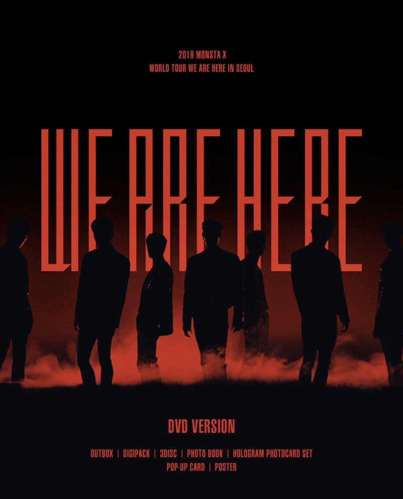 [LOOSE ITEM] MONSTA X WE ARE HERE in SEOUL DVD ver.