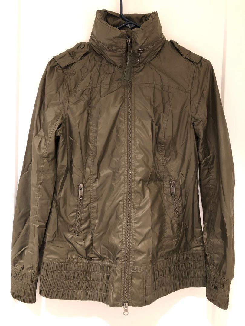 Mackage Perla Packable Rain Jacket - Olive (Medium / M)