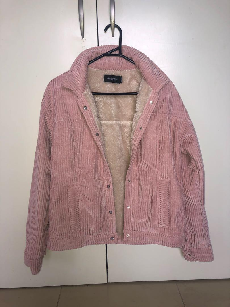 Minkpink cord jacket. Never worn. Purchased for $139.95 from princess polly. $15 postage