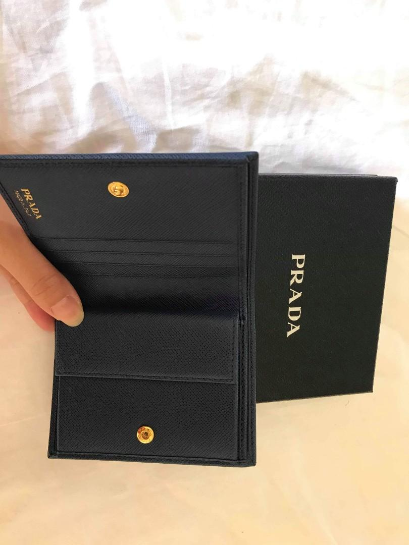 New and kept unused Prada wallet with receipt from prada store