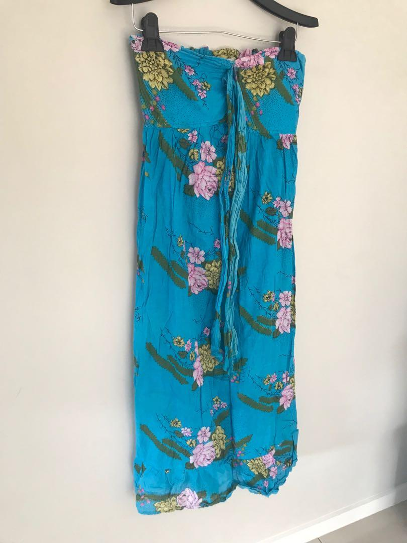 Peace angel Tree of life strapless Dress Size S Made In India