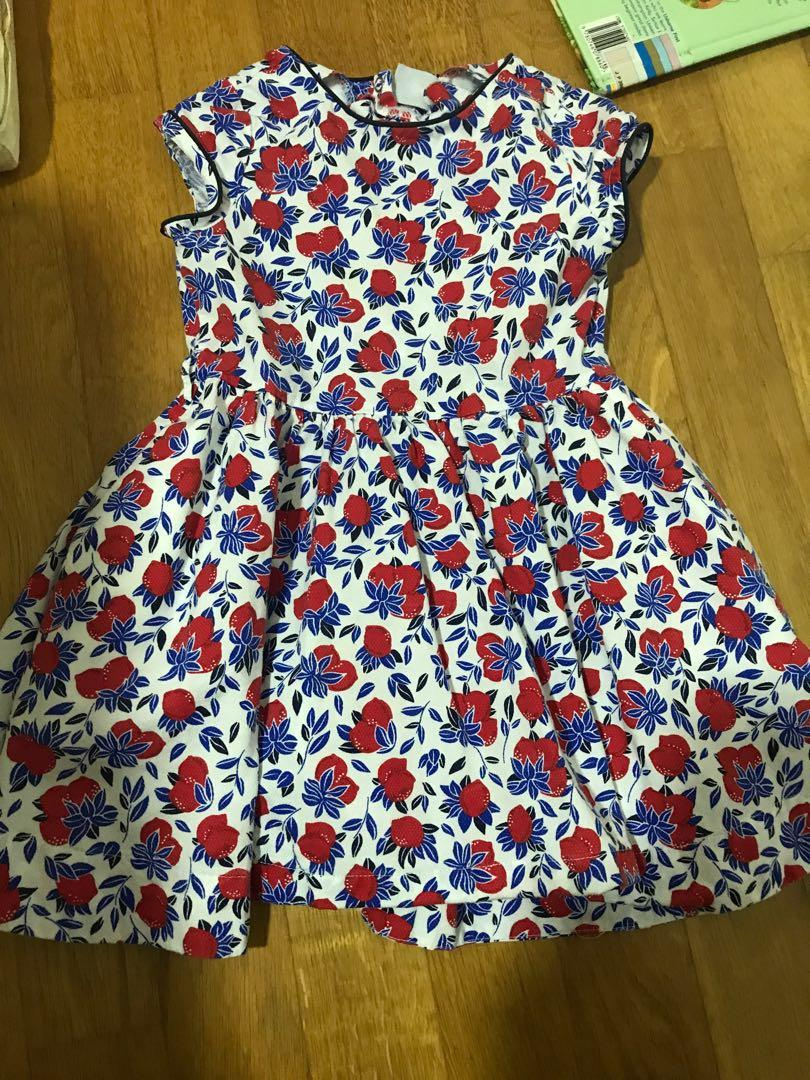 Petit bateau floral dress for 4 year old