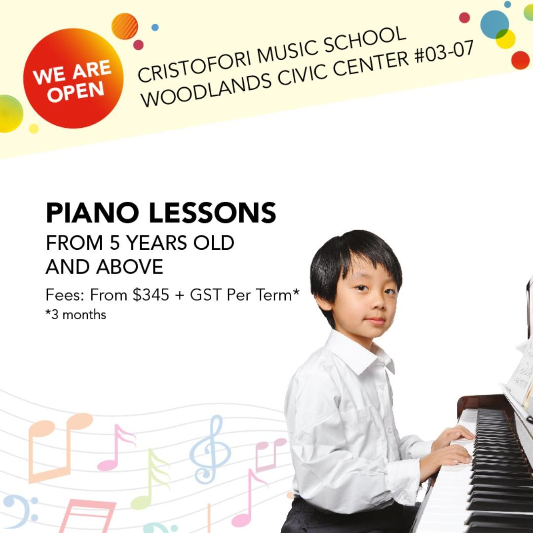 Piano Lesson - Cristofori, The Largest Music School in Singapore (The fun, easy and affordable way to learn music)