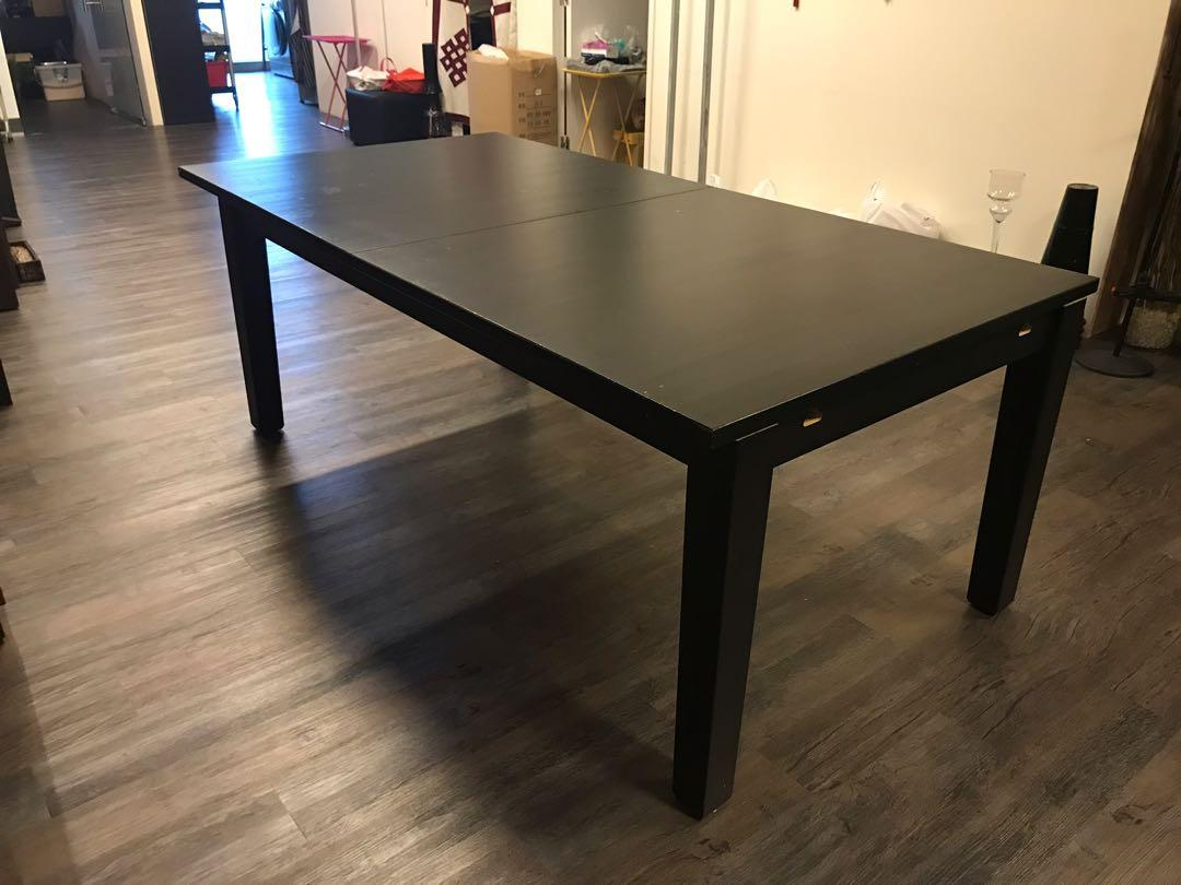preloved extendable ikea dining table fit for 12pax