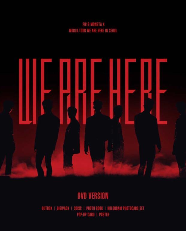 [PREORDER] MONSTA X 2019 World Tour - WE ARE HERE in SEOUL [DVD]
