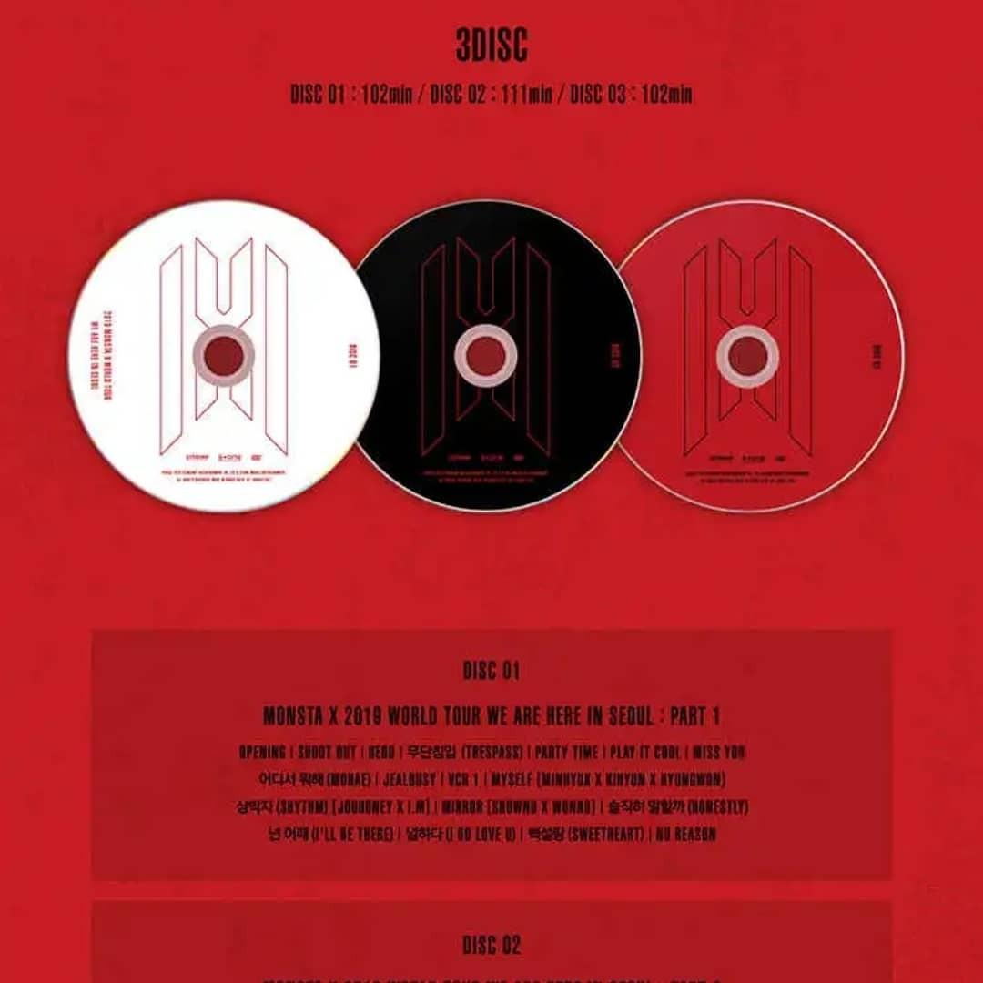 (PRE-ORDER) MONSTA X 2019 WORLD TOUR WE ARE HERE IN SEOUL