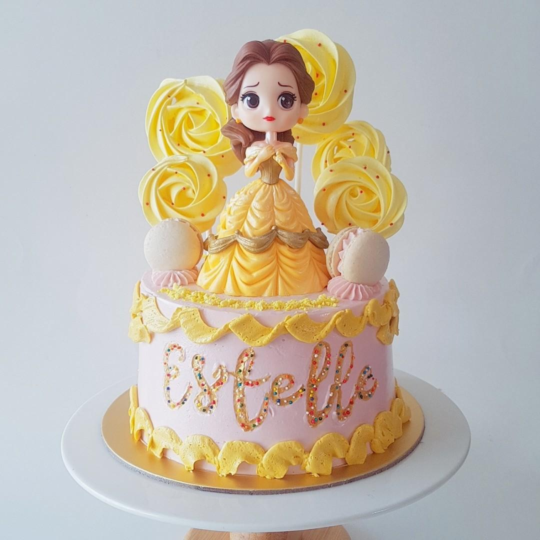 Admirable Princess Belle Beauty The Beast Birthday Cake Food Drinks Personalised Birthday Cards Paralily Jamesorg
