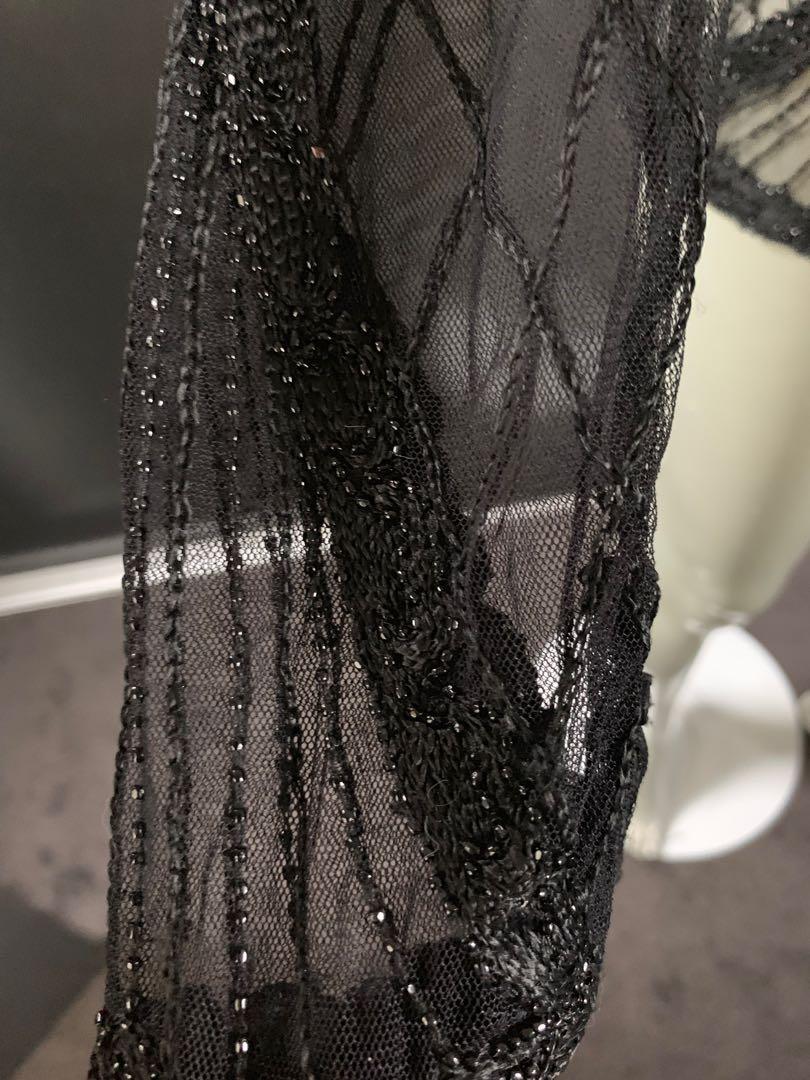 Ralph Lauren Polo Beaded Sheer Mesh Embellished Top