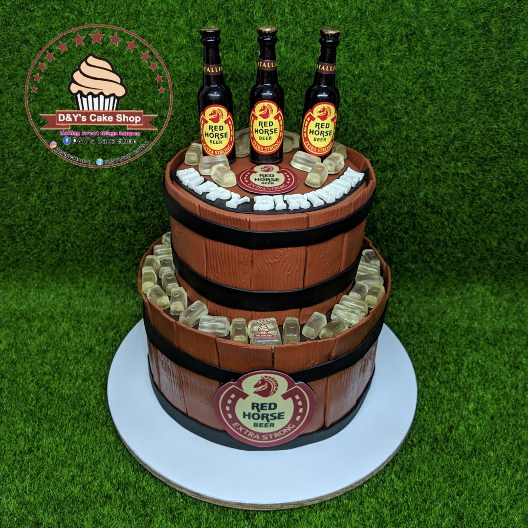 Red Horse Themed Fondant Cake Food Drinks On Carousell
