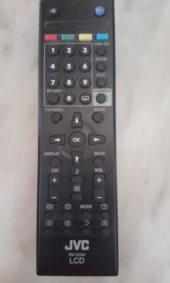 JVC LCD Remote Control