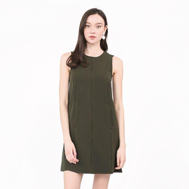 RWB Caleigh Shift Dress in Olive Green