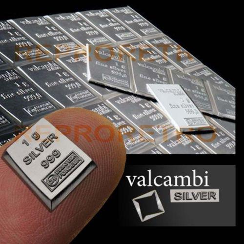 SALE ON VALCAMBI SUISSE SILVER 1G BARS 999 (READ AD) REDUCED TO CLEAR