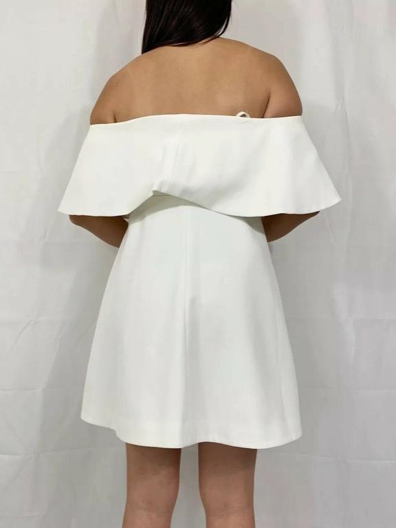 SEED HERITAGE Cream Off Shoulder Bardot Shift Dress Sz AU 10