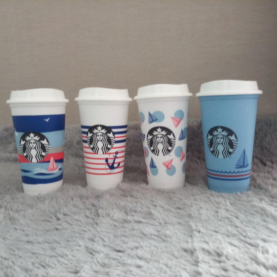Starbucks Reusable Cup Marine 2019 Grande with lid