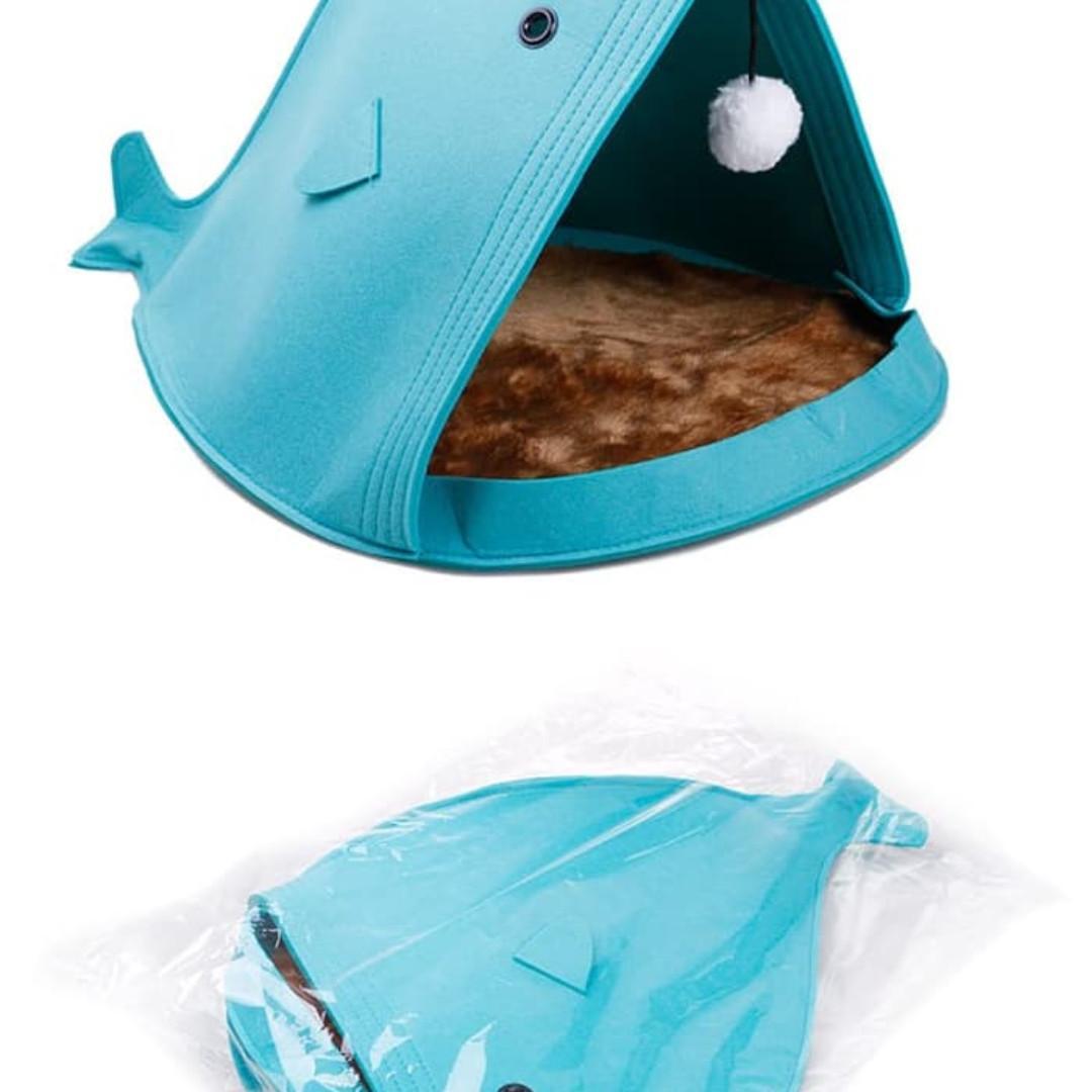 Tempat tidur anjing / kucing Pets bed Dog bed portable mudah di bawa - grey