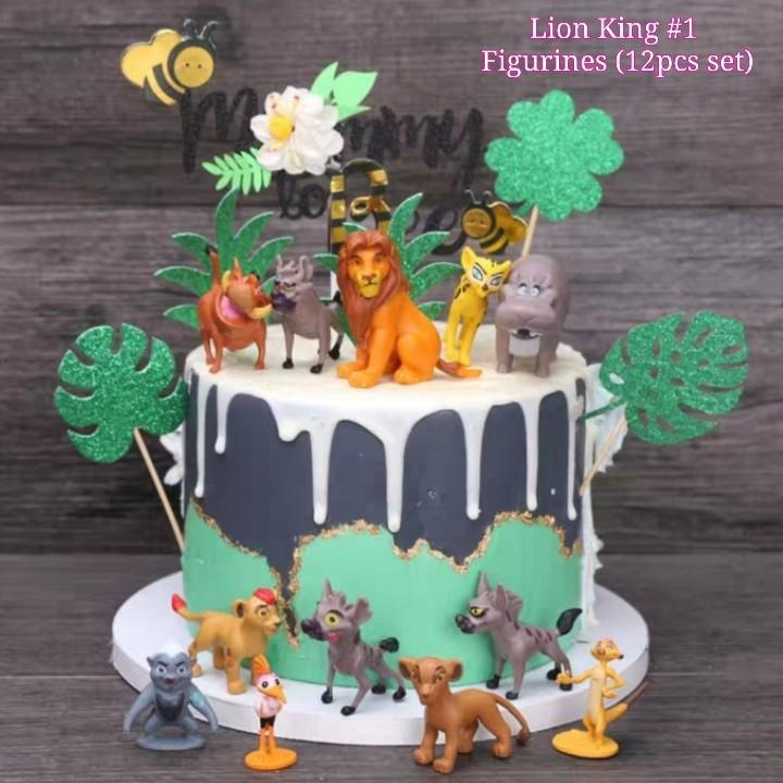 Awe Inspiring The Lion King Figurines 1 Figurines Cake Topper 12Pcs Set Funny Birthday Cards Online Barepcheapnameinfo